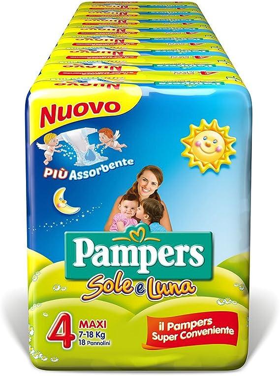 Taglia 4 7-18 kg 6 Confezioni da 24 Pampers Progressi Pannolin Maxi 144 Pannolini