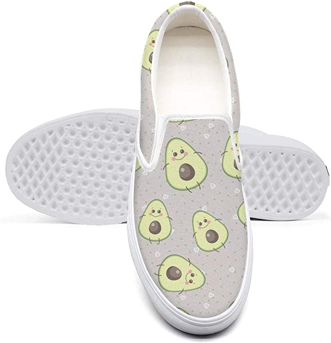 eredfs Mature Avocado Squishy White Collar Low Cut Casual Walking Shoes