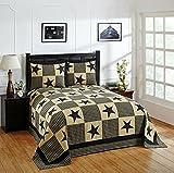Better Trends/ Pan Overseas Star Bedspread, 120'' x 110''/King, Black Gold