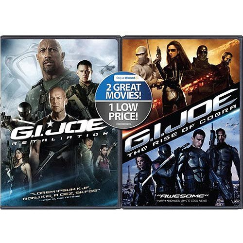 G.I. Joe - Retaliation (Dvd)/G.I. Joe - The Rise Of Cobra (Dvd) Exclusive 2 Movie Pack - Exclusive Gi Joe Rise
