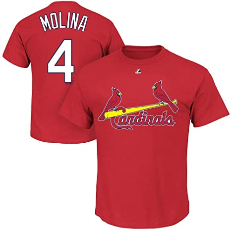 Outerstuff Yadier Molina St. Louis Cardinals MLB Majestic Kids 4-7 Red  Player Name 53a75f5f6