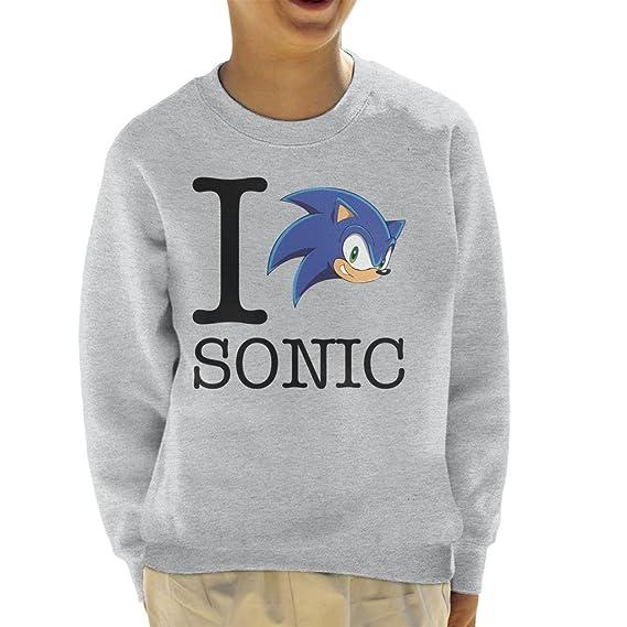 I Love Sonic The Hedgehog Kids Sweatshirt Amazonfr Vêtements Et