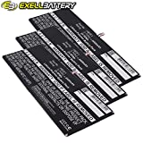 3x Exell Li-Polymer 3.7V 6400mAh Battery Fits HUAWEI MediaPad 10 Link S10-201W S10-201WA Tablets, Replaces HUAWEI HB3X1 Batteries