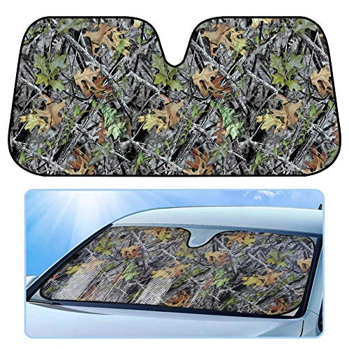 - BDK Camo Auto Windshield Sun Shade for Car SUV Truck - Forest Camouflage - Double Bubble Foil Jumbo Folding Accordion - AS-703_n