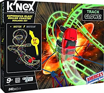 Knex Supernova Blast Roller Coaster Building Set Amazonde Spielzeug