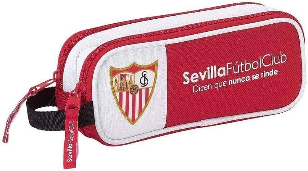 Safta Estuche Sevilla F.C. Oficial Escolar 210x60x80mm: Amazon.es: Ropa y accesorios