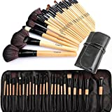 Cadrim 24pcs Makeup Brush Set Professional Makeup Kits Brushes Cosmetic Makeup Set for Women with Pouch Bag Case (burlywood)
