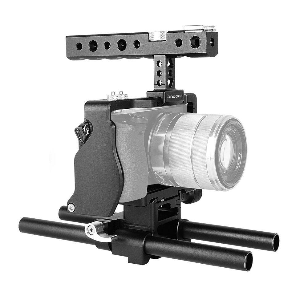 Andoer - Kit de cámara de vídeo jaula en aluminio Kit película ...