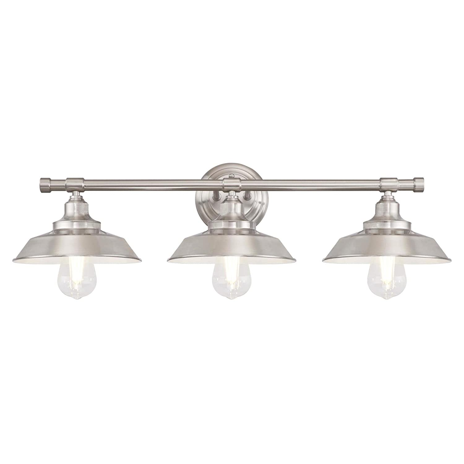 Brushed Nickel Westinghouse Lighting 6344900 Iron Hill Three-Light Indoor Wall Fixture, 3, Oil Rubbed Bronze Interior