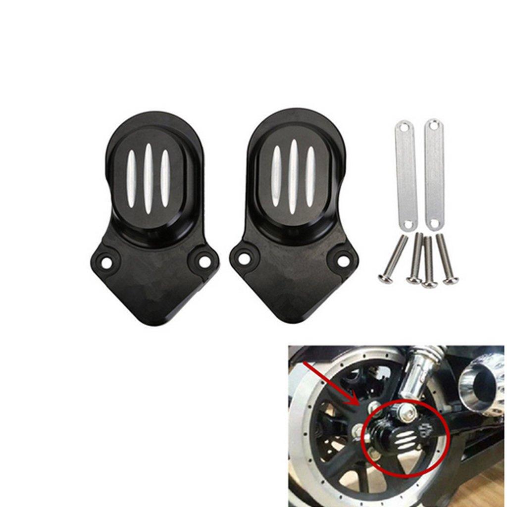 Rear Wheel Axle Kit Cover Cap For Harley Sportster 1200 883 2005-2015 (Black)