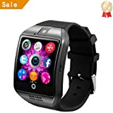 LEMFO Smart Watch Phone Bluetooth Camera SIM TF Card Smartwatch for Android Samsung LG Google Pixel and iPhone 7 7Plus 6 6s 6s Plus(Black)