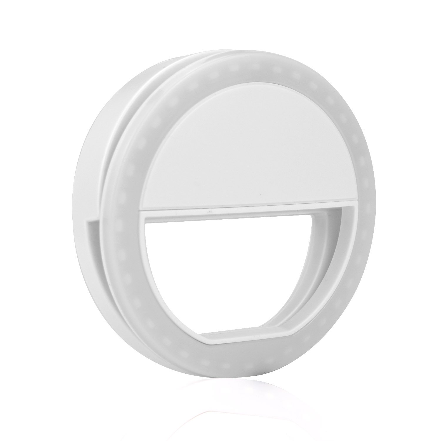 SmartElite Selfie Ring Light, Rechargeable Battery 36 LED Fill-light, Portable Clip-on Selfie Camera Light, 3-Level Adjustable Brightness for Tablet/iPad/Camera/Laptop/Samsung Galaxy Photography Video