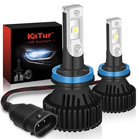 KaTur H11 H9 H8 Faros LED Bombillas Super Brillante CREE Chips 16000LM Kit de conversión de