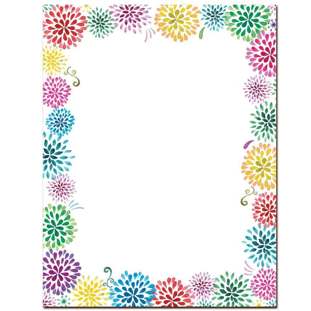 Flower Burst Letterhead Laser & Inkjet Printer Paper (100 Pack)
