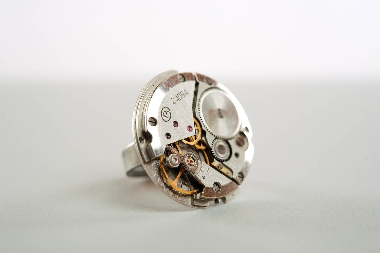 Amazon.com : Metal Ring Clock Mechanism Ring Jewelry Ring ...