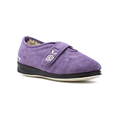 Padders Damen Lavendel Memory-Schaumstoff Pantoffel - Größe 3 UK / 35.5 EU - Violett 8ULMnX5S