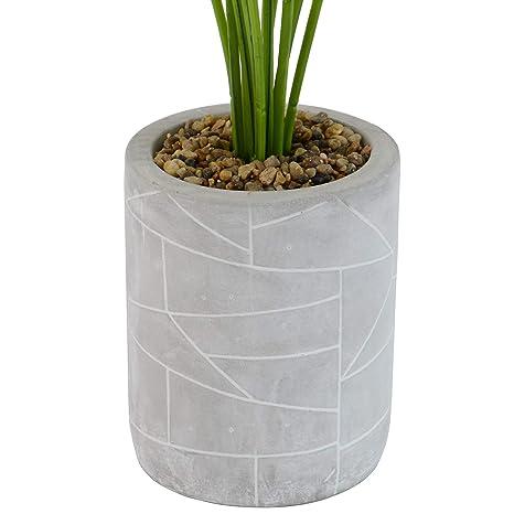 INtrenDU 3X Plante Artificielle en Pot 52cm Fleurs Artificielles