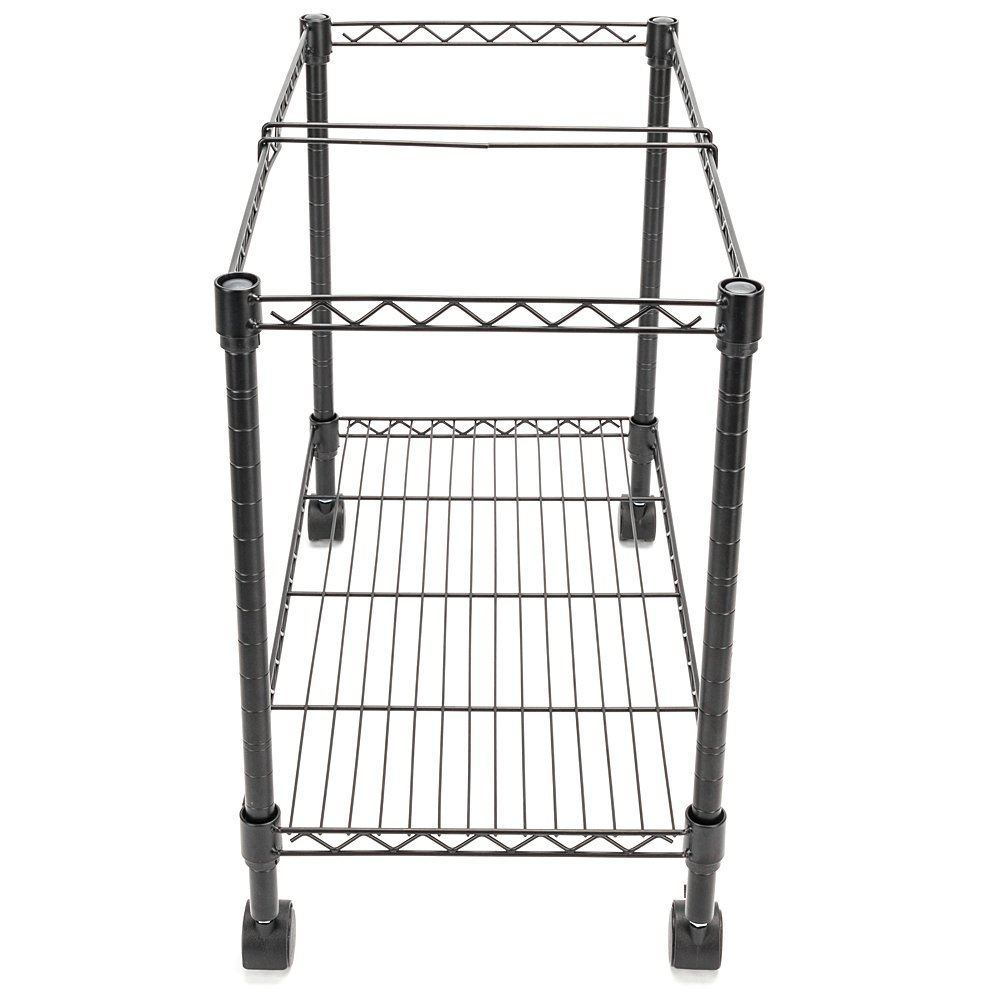 Zippem Single-Tier Rolling File Cart, 24w x 13d x 18h, Black (US Stock) by Zippem (Image #3)