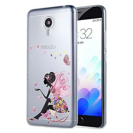 Meizu M5S Funda, ocketcase® TPU Carcasa Suave Silicona Flexible Gel Funda Resistente a los Arañazos Tapa Protectora Case Cover para Meizu M5S 5,2 ...