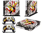 PS4 Designer Skin for Sony PlayStation 4 Console System plus Two(2) Decals for: PS4 Dualshock Controller – Ghost Ops For Sale