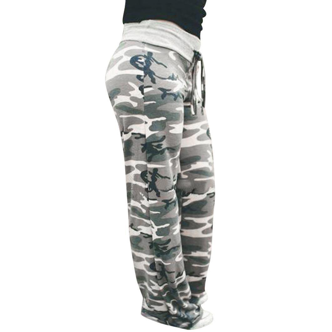 GoodLock Women Fashion Wide Leg Pants Ladies Summer Floral Prints Drawstring Wide Leg Pants Leggings (A, XXX-Large)