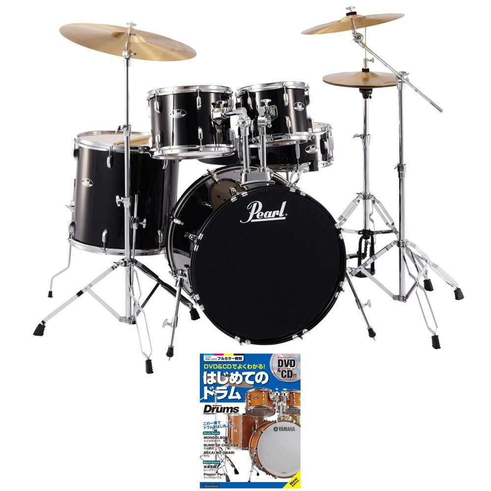 PEARL ドラムセット RS525SCW/C 31-ジェットブラック ご購入特典ドラム教本付き   B07T97FHXZ