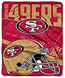 NFL San Francisco 49ers Large Oversized 62in X 90in Super Plush Throw Blanket