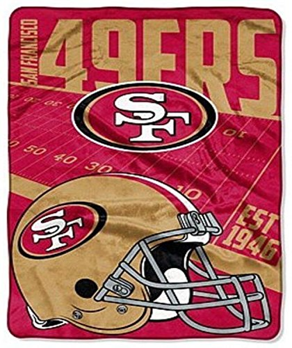 San Francisco 49ers Soft Blanket (NFL San Francisco 49ers Large Oversized 62in X 90in Super Plush Throw Blanket)