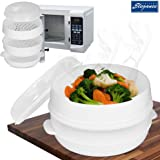 Cuisine Elegance 2 Tier Microwave Cooker Steamer Vegetable Rice Pasta Cooking Pot Pan