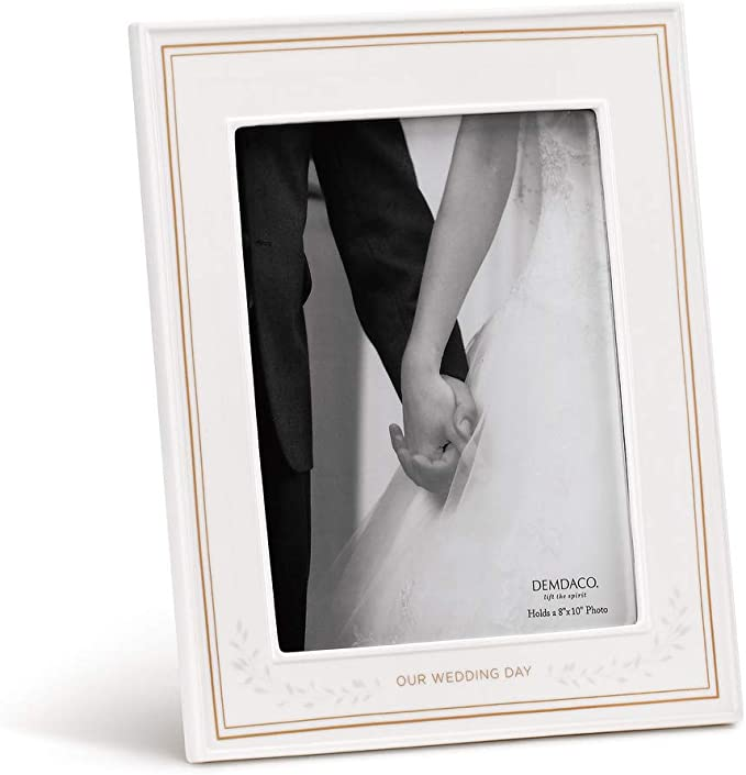 Amazon Com Demdaco Our Wedding Day 11 X 13 Porcelain Picture Frame