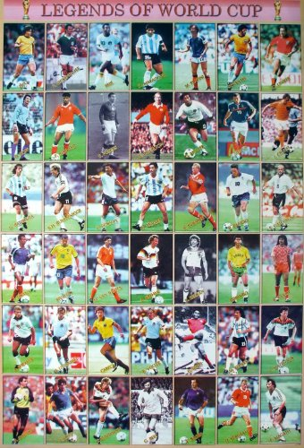 J-1734 The Legend of World Cup Soccer Football Sport Wall De