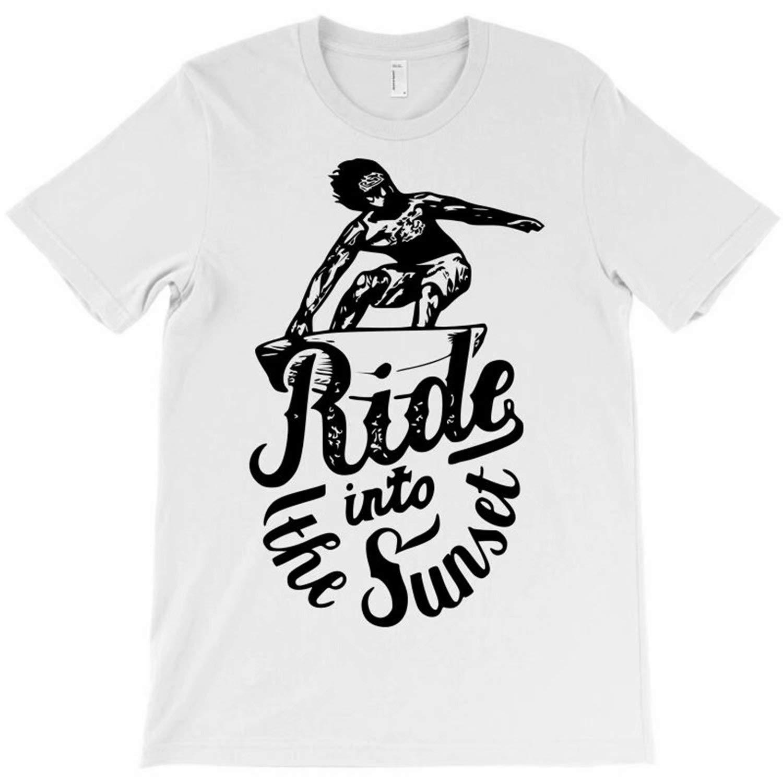 Unisex Kids Summer Shirt Ride Into The Sunset T-Shirt