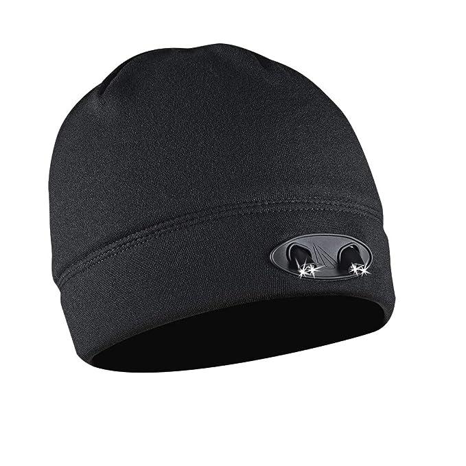 72aeb5691b8f47 POWERCAP LED Beanie Cap 35/55 Ultra-Bright Hands Free LED Lighted Battery  Powered Headlamp Hat - Black Fleece (CUBWB-4553) - - Amazon.com