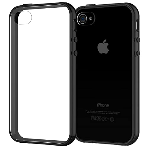 JETech Case for Apple iPhone 4 and iPhone 4s, Shock-Absorption Bumper, Black