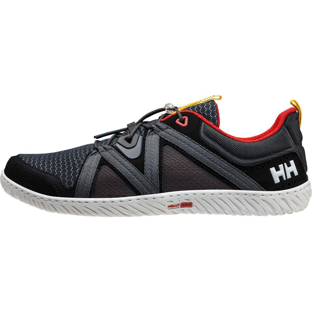 Helly Hansen Men's HP Foil F-1 Sailing Shoe, Ebony/Black/Alert Red, 12