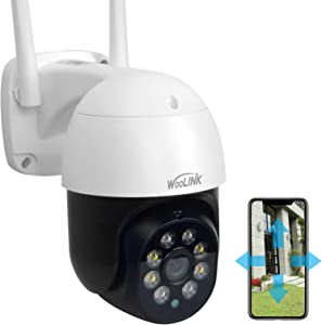 Woolink Home & Outdoor Security Camera System Wired, Wireless WiFi IP Camera, 2K Floodlight Night Vision, Intelligent Motion Detection, Two-Way Audio, Plug-in Power, 3MP, PTZ, IP66 SC393