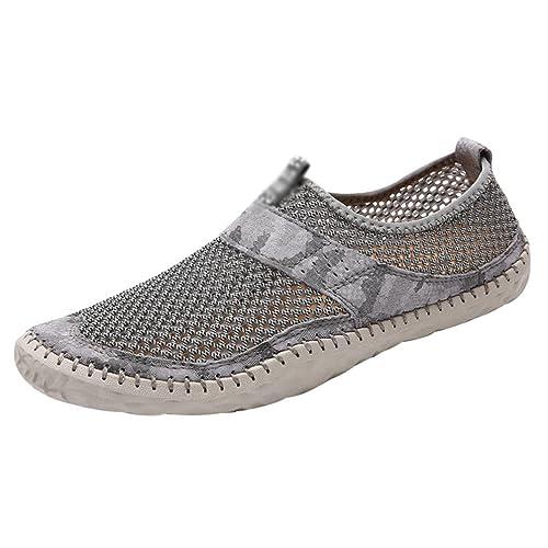LINNUO Mocasines Transpirable Hombres Sandalias Deportivas Zapatillas de Senderismo Zapatos de Verano Outdoor: Amazon.es: Zapatos y complementos