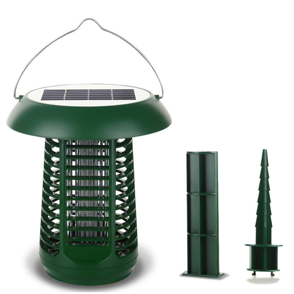 Solar Powered Bug Zapper Light,50㎡ Range Mosquito Insect Killer Outdoor Water Resistant Mute Indoor And Outdoor Lantern Dual Purpose Portable Garden Lawn Light
