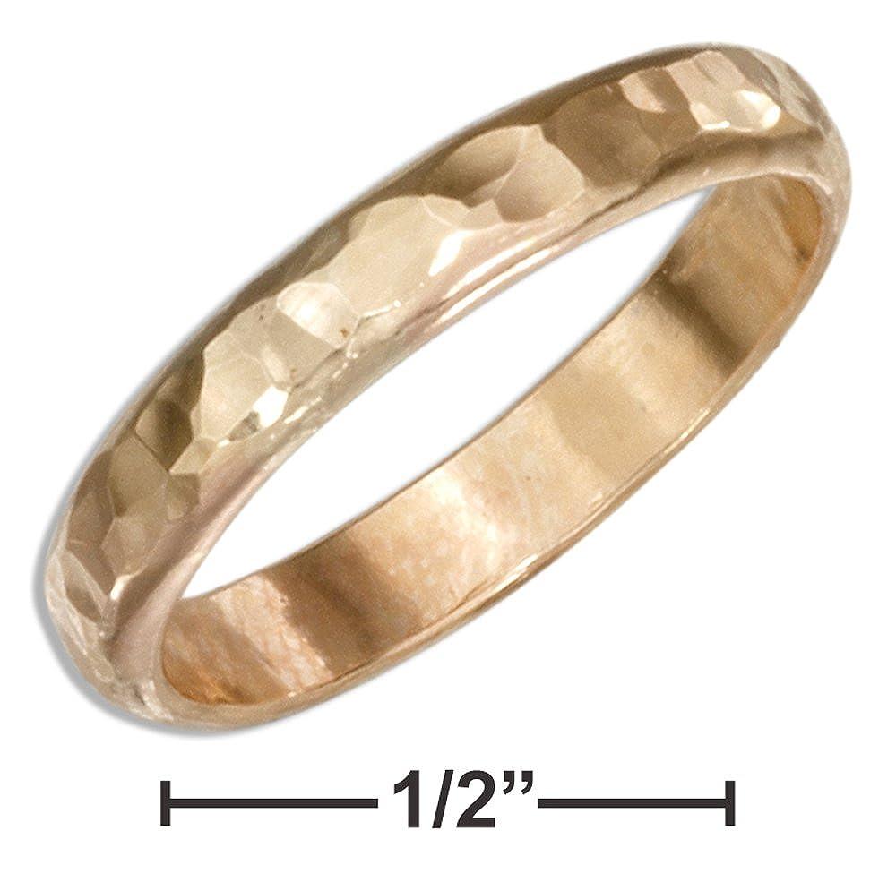 30bbe10ec3821 12 Karat Gold Filled 3mm Hammered Wedding Band Ring