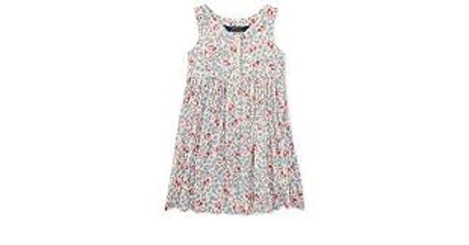 3bbcdd7998ecb Ralph Lauren Polo Girls Floral Print Sleeveless Dress (Cream/Pink Mu, 2/