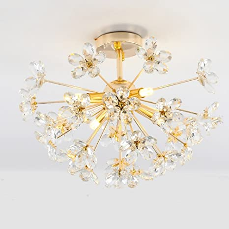 Dormitorio Postmoderno LED Lámpara de Cristal Lámpara ...