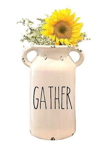 Personalized Milk Can – Farmhouse Milk Can Personalized Ceramic Milk Can Farmhouse Style Ceramic Vase Rae Dunn Inspired Farmhouse Milk Jug