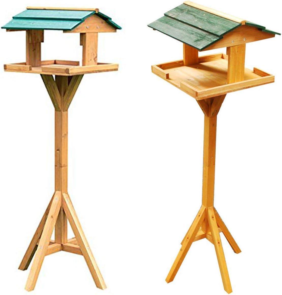TABLE MAISON EN BOIS MASSIF MANGEOIRE EN BOIS POUR OISEAU ROOF