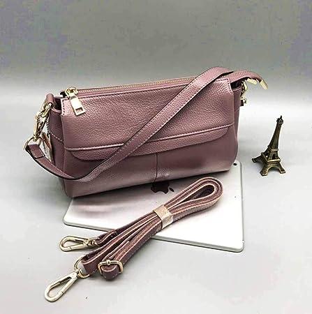 89ab16b83e00 Amazon.com: AYMMY Women's Messenger Bag Top Layer Leather Zipper ...
