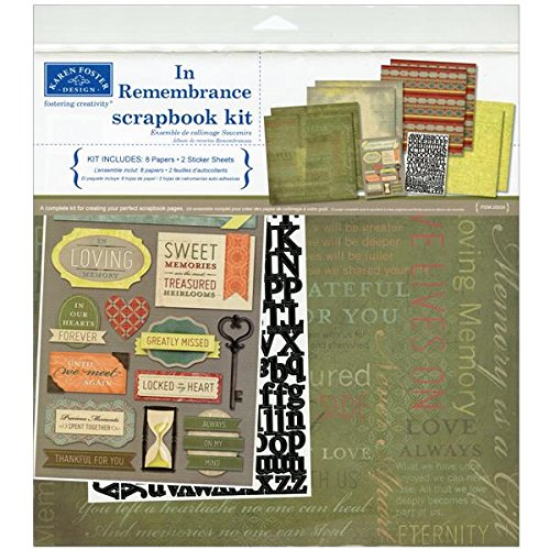 - Karen Foster Design Themed Paper and Stickers Scrapbook Kit, In Memory