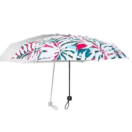 AFCITY Mujer Hombre Paraguas Viaje Sombrillas de Verano para Mujer Mini Paraguas portátil Protección UV Paraguas
