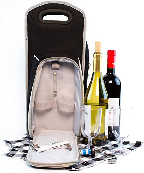 Siumir Christmas Wine Bottle Bags 6 PCS Wine Gift Bags Kraft Paper Wine Bottle Carriers Single Bottle Totes 4.72 x 3.15 x 14.17 inch Champagne Bags