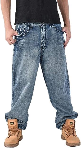 Hombres Vaqueros Pantalones De Tiempo Libre Moda Hippie Pierna Recta Shorts Vaqueros Tallas Grandes Pantalon Anchos Anchas Tendencia Vintage Denim Trousers Estilo Hipster Jovenes Fit Amazon Es Ropa Y Accesorios