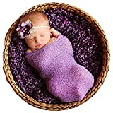 Sunmig Newborn Baby Stretch Wrap Photo Props Wrap-Baby Photography Props (Purlple)