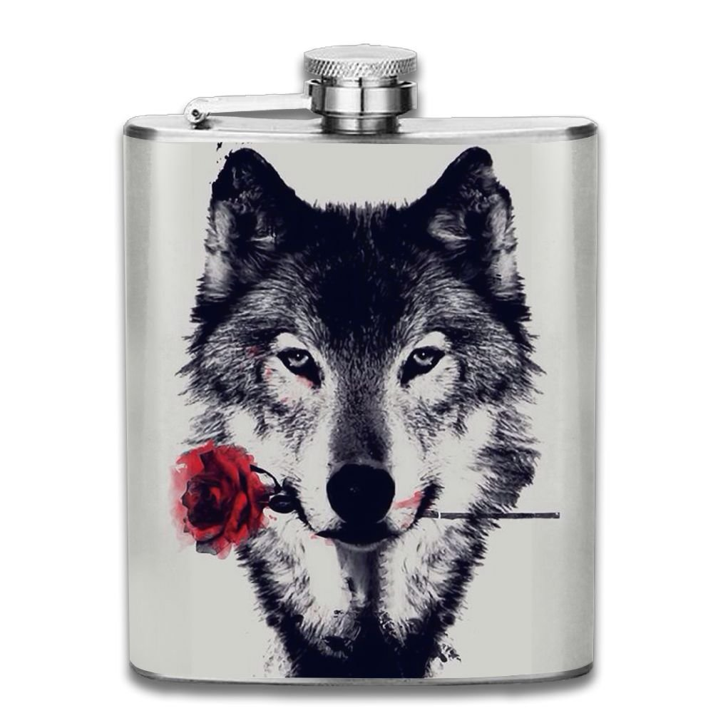 愛用 Awesome WolfローズアウトドアポータブルステンレススチールFlagon Awesome Liquorヒップフラスコセット( 7oz 7oz B079FDJ6QH ) B079FDJ6QH, 神戸肉屋まるやす:f04e5271 --- a0267596.xsph.ru